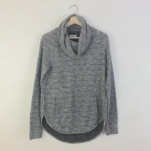Lou & Grey Cowl Neck Striped Pullover Sweater S